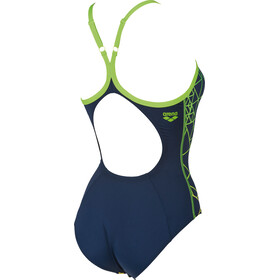 arena Reticulum One Piece Swimsuit Women navy-leaf